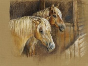 Resting in the Barn by Mary Povey